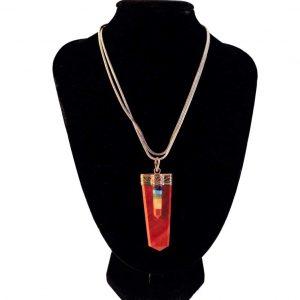 7 Chakra Red Jasper Pendant