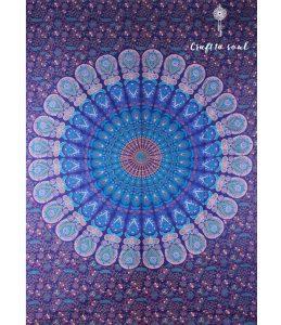 Barmeri Peacock Mandala Tapestry - Olympic
