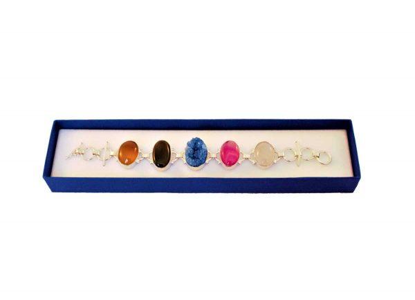 Geode Druzy Crystal Stones Bracelet 1