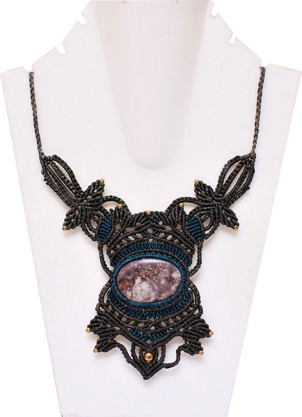 Macrame Stone Necklace