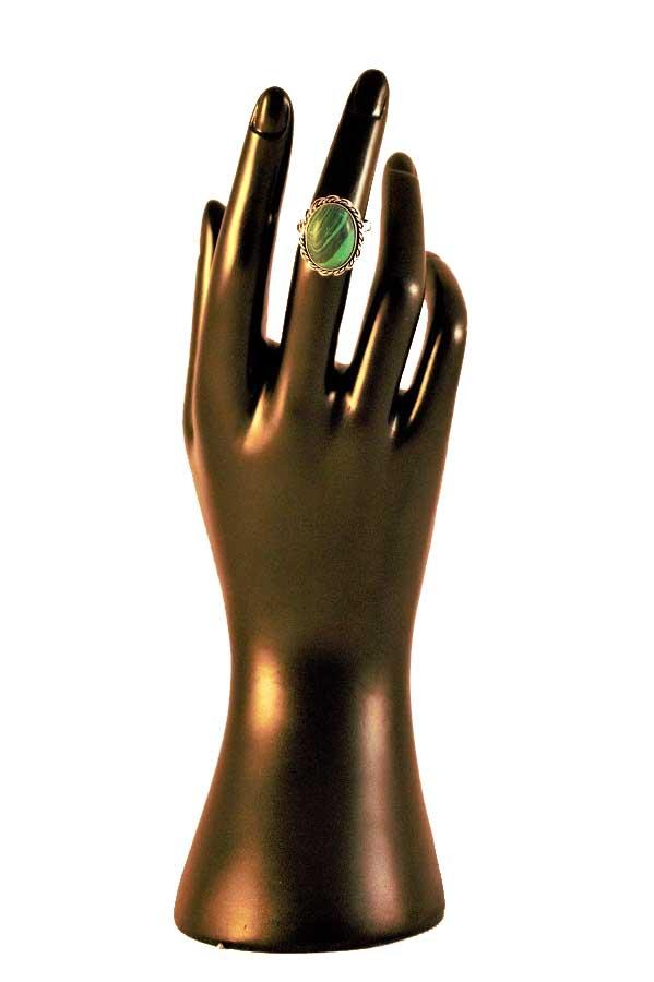 Malachite Turquoise Stone Ring