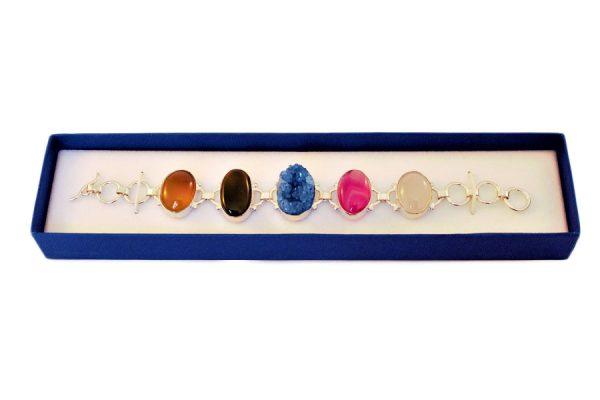 Geode Druzy Crystal Stones Bracelet