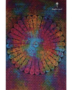 Psy Mandala Bohemian Tapestry