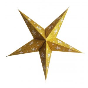 Star Glitter Lantern Golden