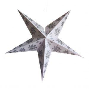 Star Glitter Lantern White