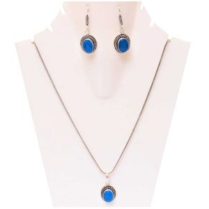 Blue Opal Stone Necklace